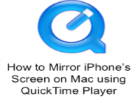 How to Mirror iPhone's Screen on Mac using QuickTime Player