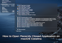 How to Open Recently Closed Application on macOS Catalina